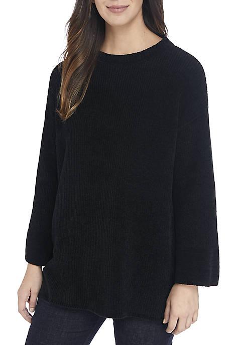 Eileen Fisher Round Neck Chenille Sweater