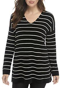 3861466b8d1 Eileen Fisher. Eileen Fisher Striped V-Neck Sweater