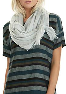 Textured Stripe Linen Scarf