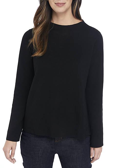 Eileen Fisher Reversible Funnel Neck Box Sweater