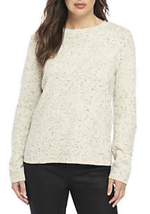 Tweed Round Neck Sweater