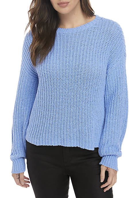 Eileen Fisher Cotton Cable Knit Sweater