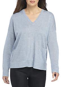 6befba2475 Eileen Fisher Organic Cotton Denim Shirt Dress · Eileen Fisher V-Neck Box  Sweater