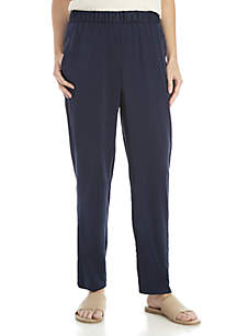 Ankle Silk Charm Pants