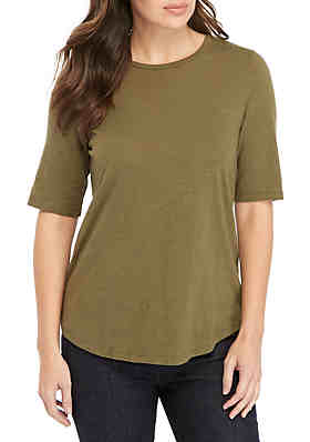 a5a9fa0d73081f Eileen Fisher Elbow Sleeve Tee ...