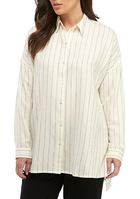 Eileen Fisher Stripe Boxy Shirt