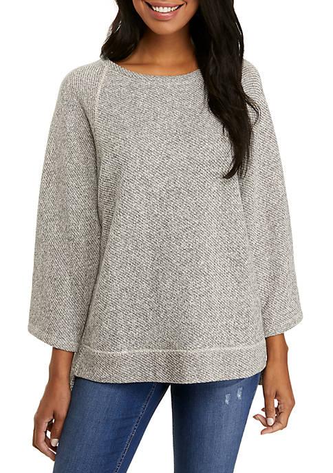 Eileen Fisher Round Neck Terry Twist Sweatshirt