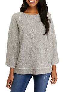 Round Neck Terry Twist Sweatshirt