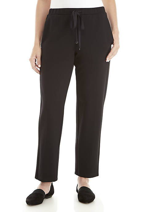 Eileen Fisher Slouchy Ankle Travel Ponte Pants