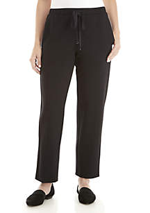 Slouchy Ankle Travel Ponte Pants