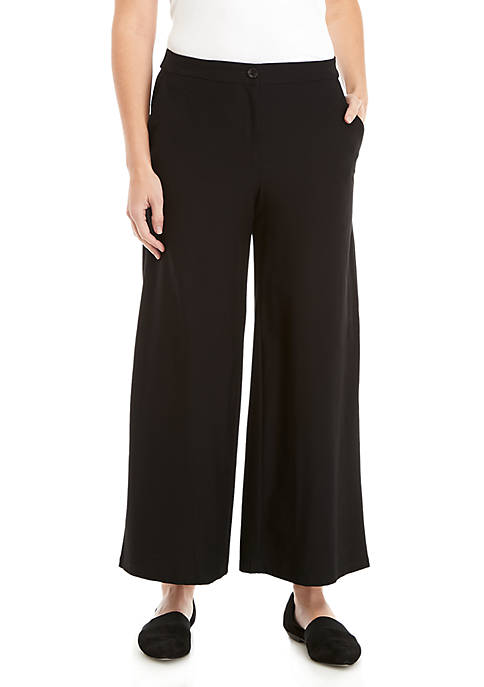 Eileen Fisher High Waist Crepe Ankle Pants