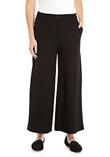 High Waist Crepe Ankle Pants