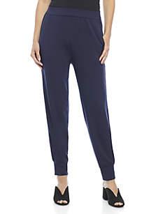 Velvet Trim Track Pants