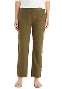 Eileen Fisher Slouchy Twill Ankle Pants