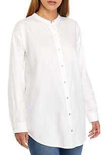 Mandarin Collar Long Shirt
