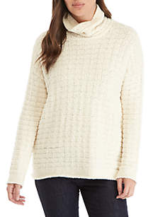 Eileen Fisher Funnel Neck Texture Sweater