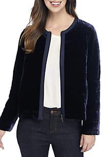 Quilt Velvet Jacket