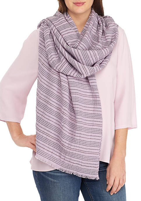 Eileen Fisher Cotton Rows Wash Scarf