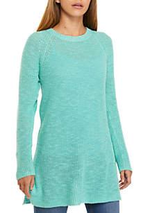 Eileen Fisher Round Neck Tunic Sweater