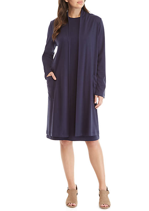 Eileen Fisher Pocket Front Long Stretch Cardigan