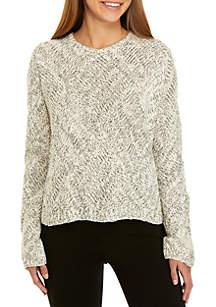 Bateau Neck Cable Knit Sweater
