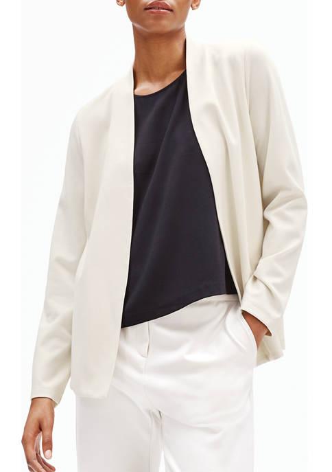 Eileen Fisher Womens Open Ponte Jacket