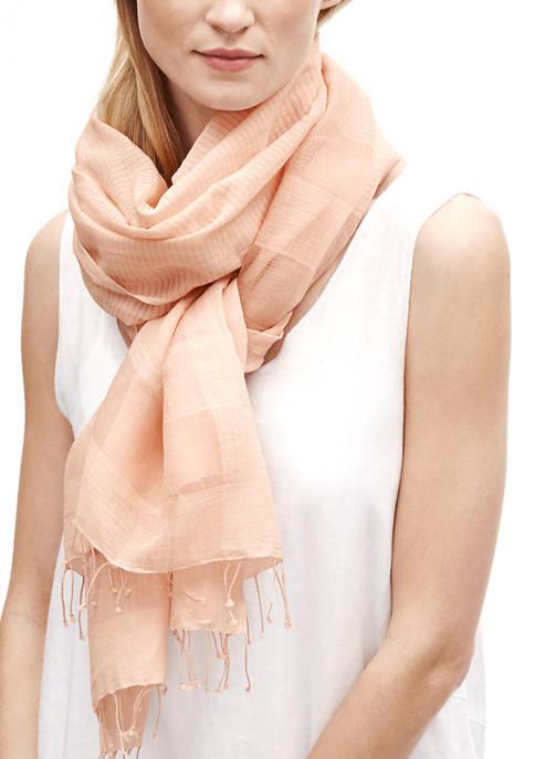 Eileen Fisher Silk Stripe Scarf