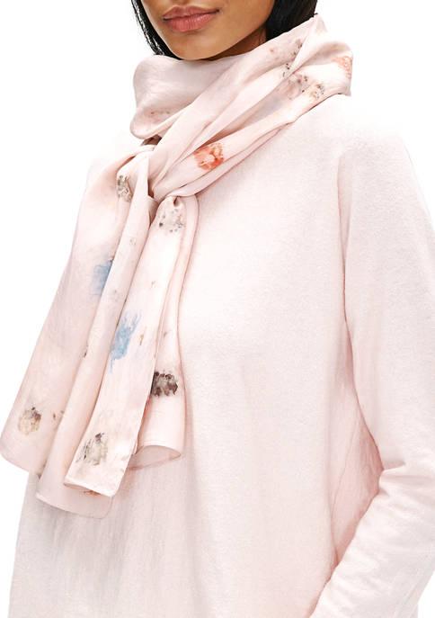 Eileen Fisher Natural Dye Silk Scarf