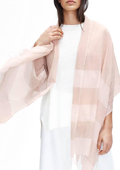 Eileen Fisher Womens Organic Striped Scarf