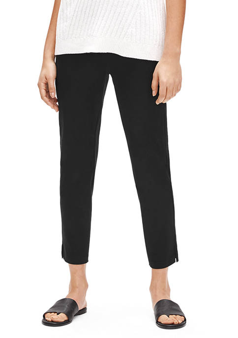 Eileen Fisher Womens Organic Stretch Midrise Ankle Pants