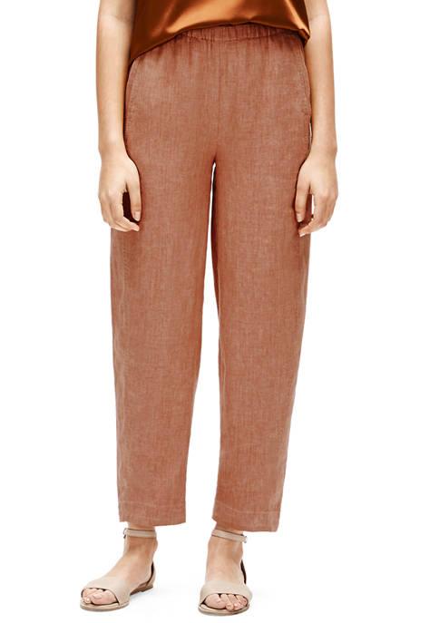 Eileen Fisher Womens Lantern Ankle Length Pants