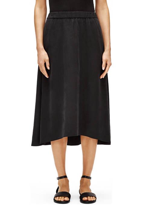 Eileen Fisher Womens Tencel™ A Line Skirt