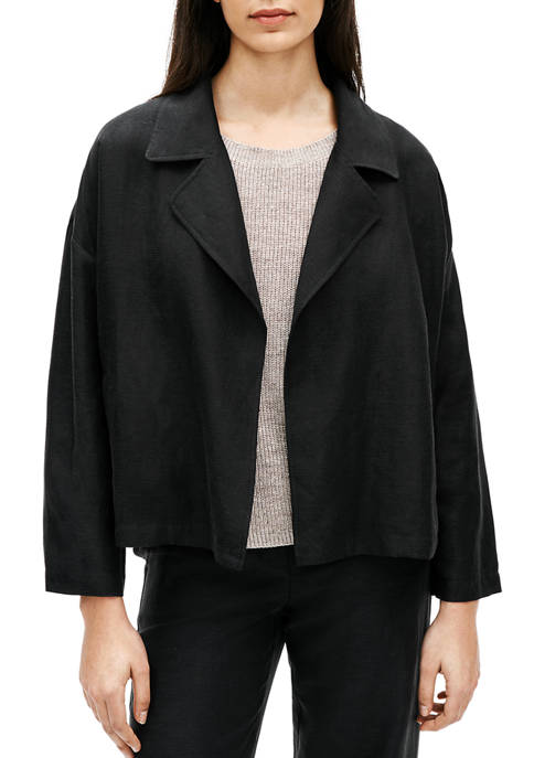 Eileen Fisher Womens Drape Front Jacket
