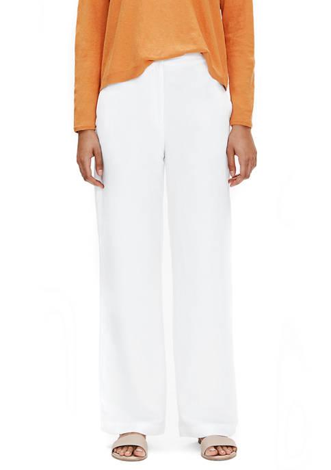 Eileen Fisher Womens Straight Full Length Pants