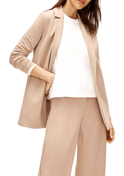 Eileen Fisher Womens Tencel™ Ponte Notch Collar Jacket