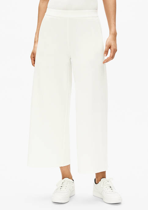 Eileen Fisher Womens Tencel™ Ponte Wide Cropped Pants