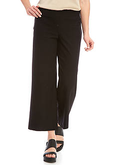 Eileen Fisher Solid Wide Leg Cropped Pants