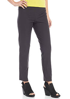 Eileen Fisher Stretch Crepe Slim Ankle Pant with Yoke