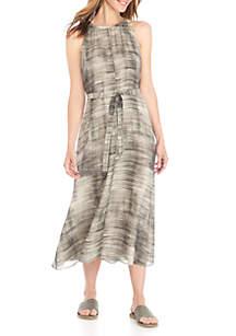Halter Flounce Dress