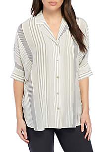 Classic Collar Short Sleeve Top