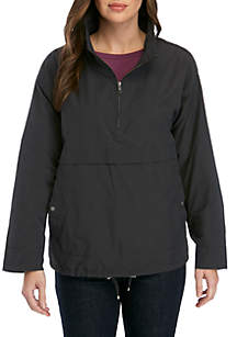 Eileen Fisher Stand Collar Pullover Nylon Jacket