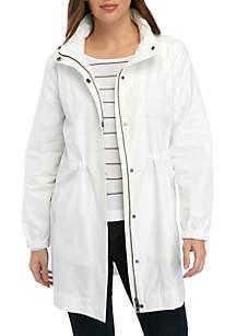 110a71dc838 Kensie Long Length Flyaway Jacket · Eileen Fisher Hidden Hood Long Nylon  Jacket