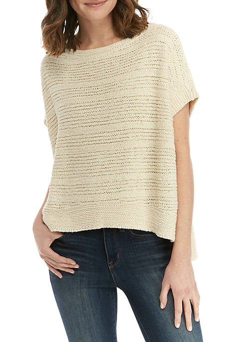 Eileen Fisher Boat Neck Tape Yarn Sweater