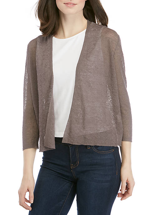 Eileen Fisher Short Open Front Cardigan