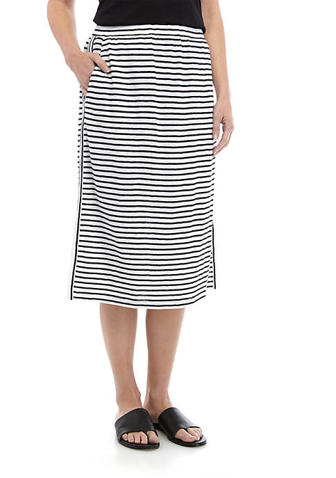 Eileen Fisher Stripe Jersey Drawstring Skirt