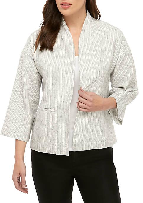 Eileen Fisher Stripe Linen Jacket