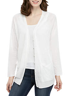 Eileen Fisher V Neck Button Front Cardigan