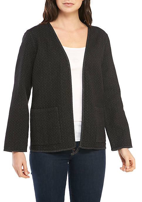 Eileen Fisher Double Woven Dash Textured Cardigan
