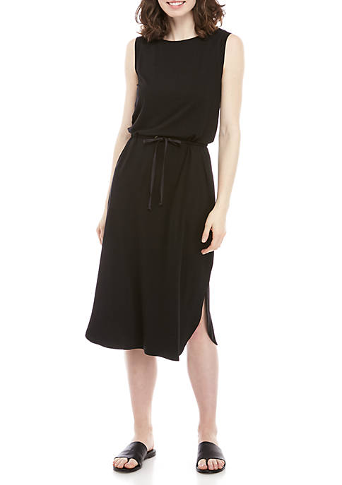 Eileen Fisher Drawstring Jersey Dress