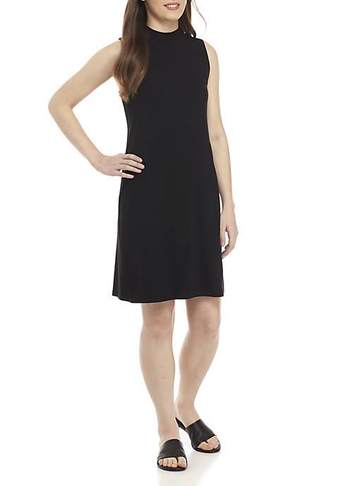 Eileen Fisher Mock Neck Slim Jersey Dress